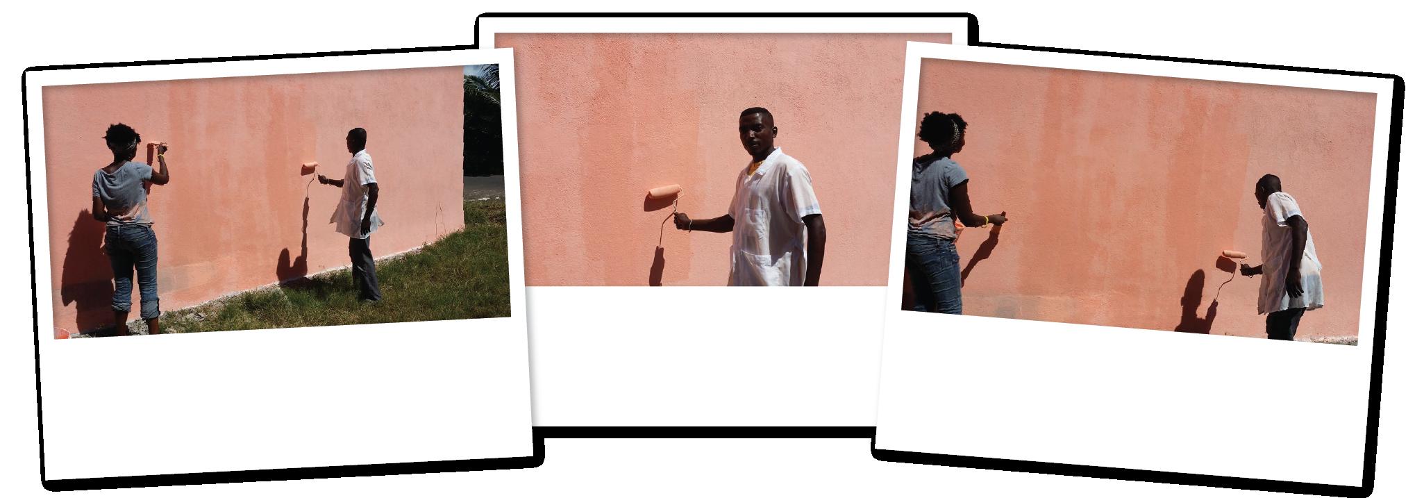 Teacher Helps Community Development Volunteers Rebuild SchoolEnglish Classes - Banana Village MRCI 2 copy 2